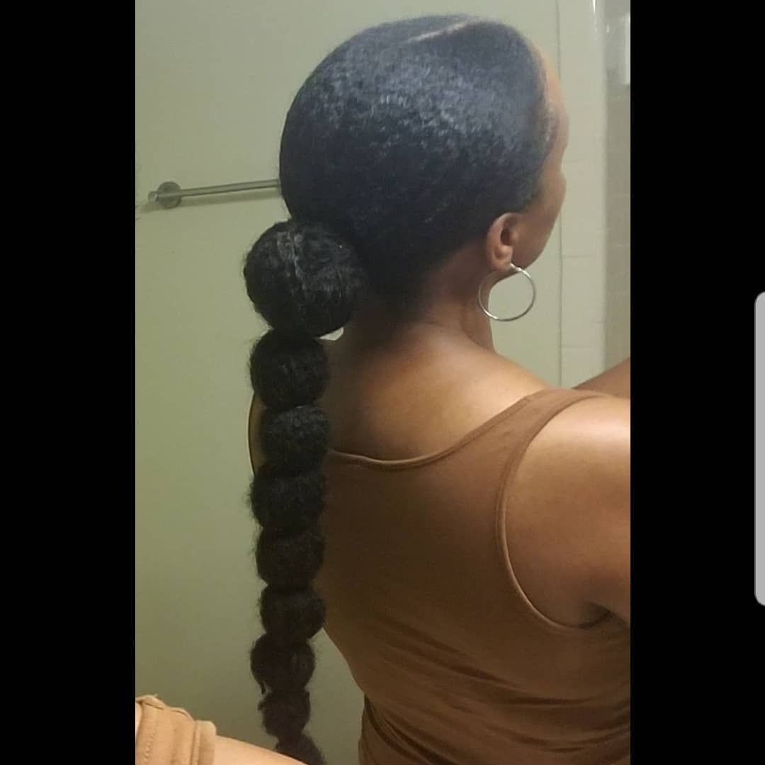 Bubble Ponytail Inspired By Channinglilly Naturalhair 4bhair Ponytail 4chai Natural Hair Updo Natural Hair Styles For Black Women Natural Hair Inspiration