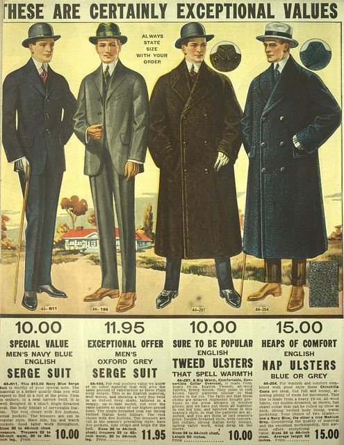 Fall Winter 1916 1917 England Fashion Edwardian Fashion Vintage Mens Fashion