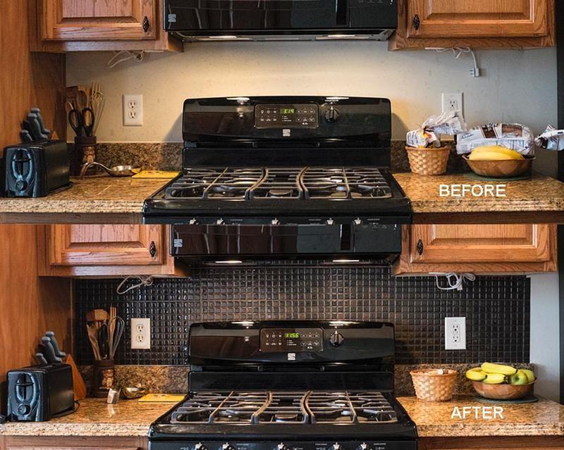nous devions repeinturer la cuisine mais pas autour du four o les claboussures de cuisson. Black Bedroom Furniture Sets. Home Design Ideas