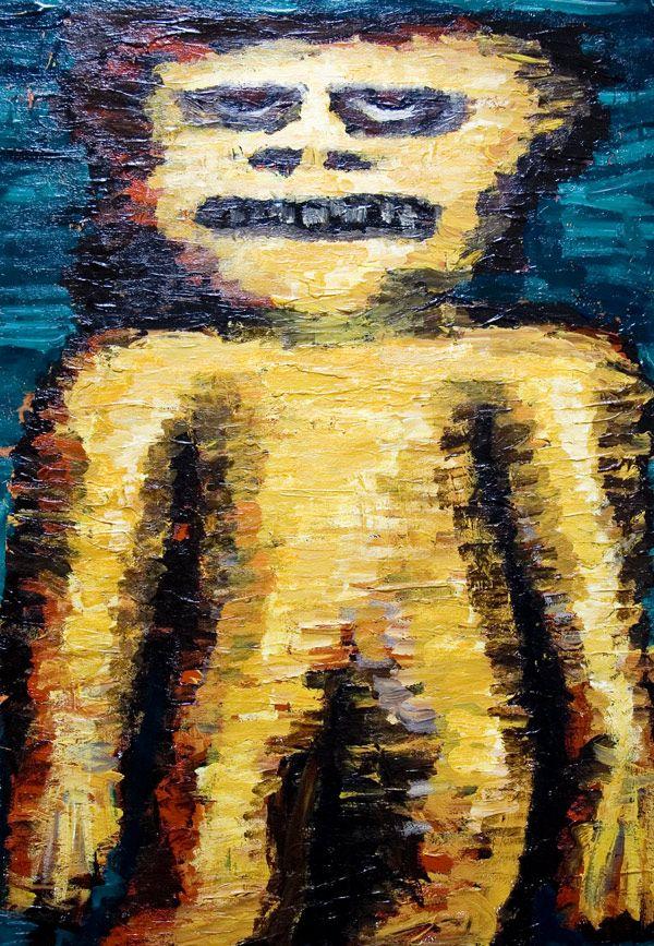 Yellow Dwarf New Symbolic Raw Art Art Brut Primitive Human