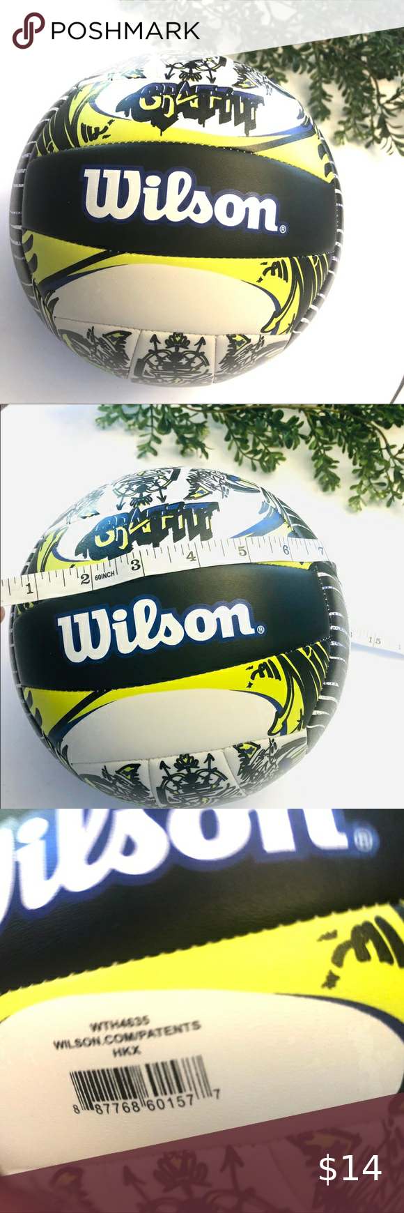 Wilson Graffiti Youth Volleyball Yellow White In 2020 Youth Volleyball Kids Shop Clothes Design