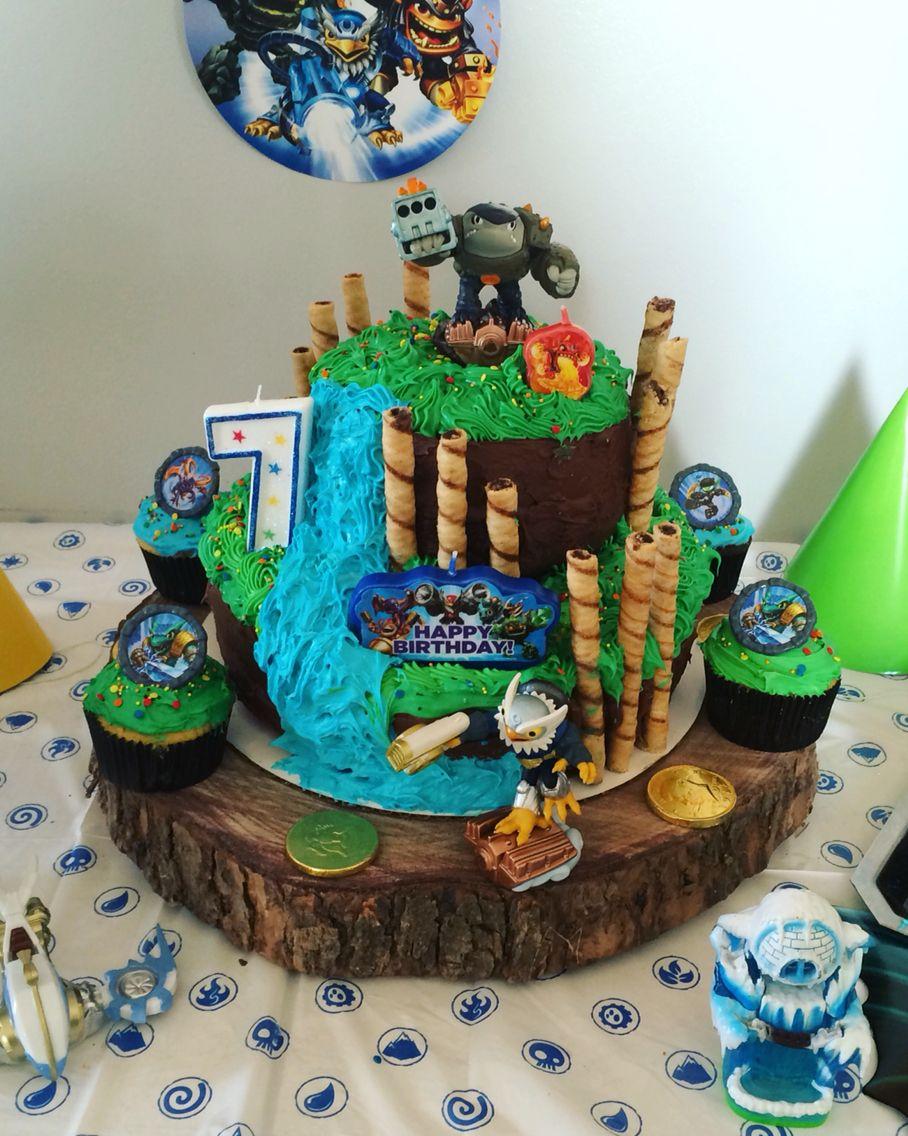 Fantastic Skylanders Birthday Cake Skylanders Birthday Cake Skylanders Funny Birthday Cards Online Inifofree Goldxyz