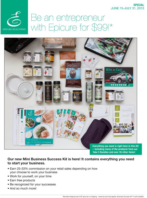 Epicures mini business kit 99 until july 31 2013 looking for epicures mini business kit 99 until july 31 2013 looking for entrepreneurs anywhere in canada to join my team of winning entrepreneurs all across solutioingenieria Gallery