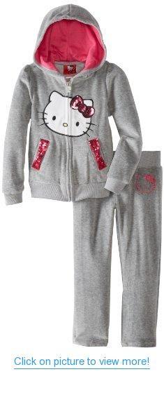 Hello Kitty Girls 2-6X Velour Sweat Suit #Hello #Kitty #Girls #2_6X #Velour #Sweat #Suit