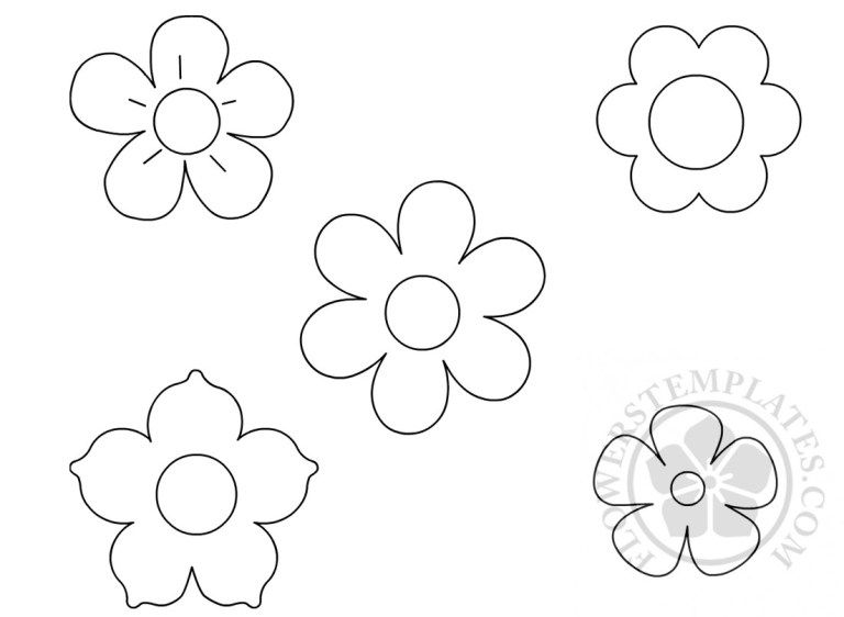Small Flowers Template Coloring Page Flower Templates Printable