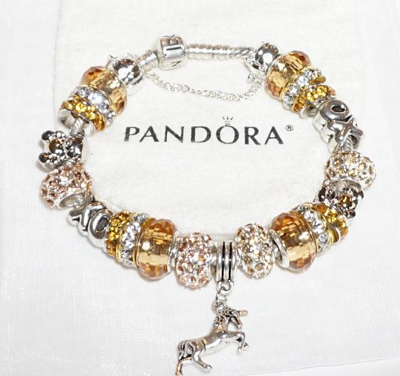 Glorious in Gold XO Authentic Jared Pandora bracelet Jareds