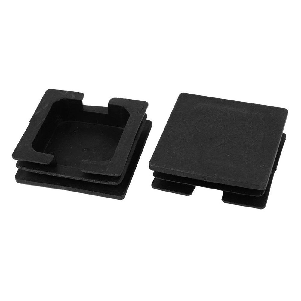 Square Plastic Black Blanking End Caps Tube Pipe Inserts Plug Bung Box Section