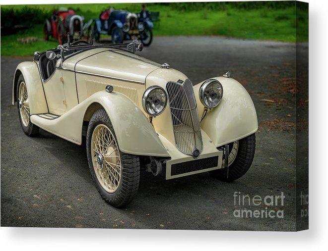Riley Sprite Classic Car Canvas Print / Canvas Art by Adrian Evans