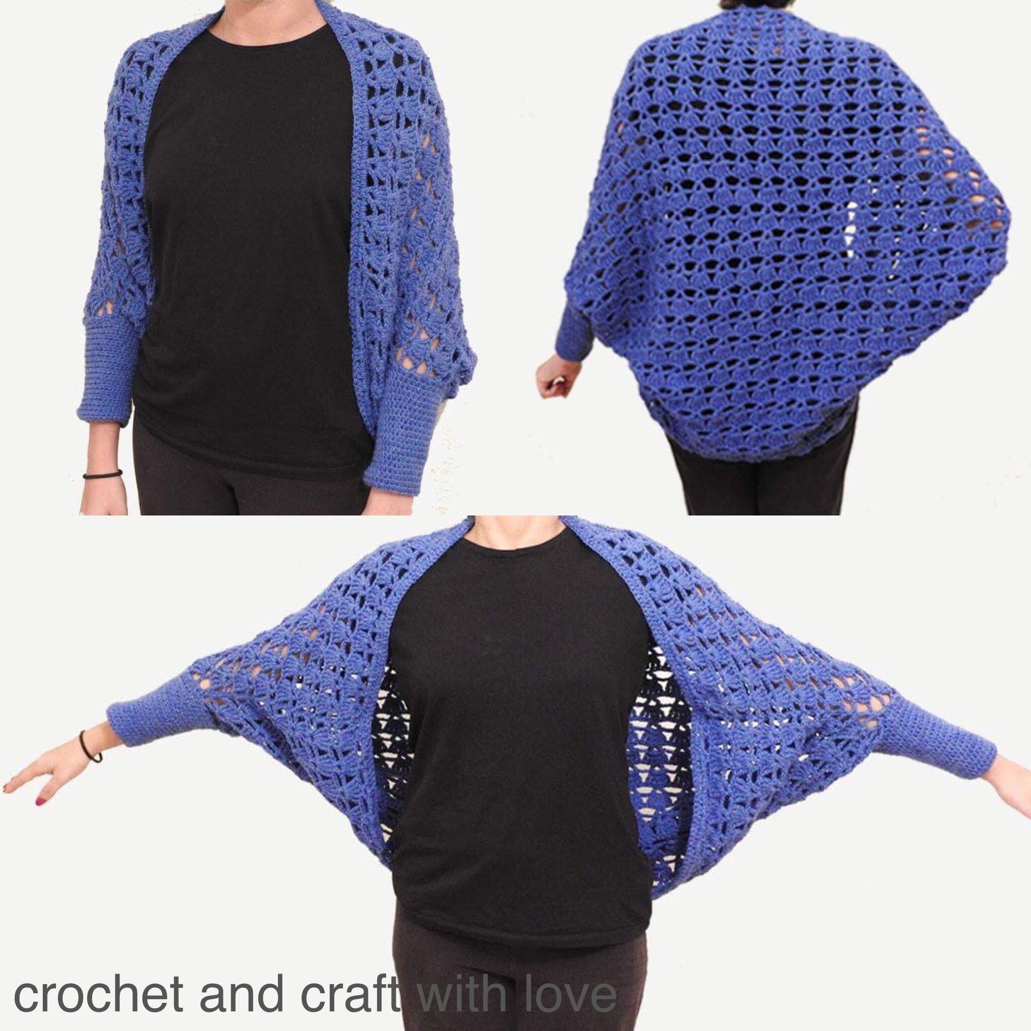 جاكيت كروشيه او بوليرو بكم Crochet Shrug Fashion Cover Up Dresses