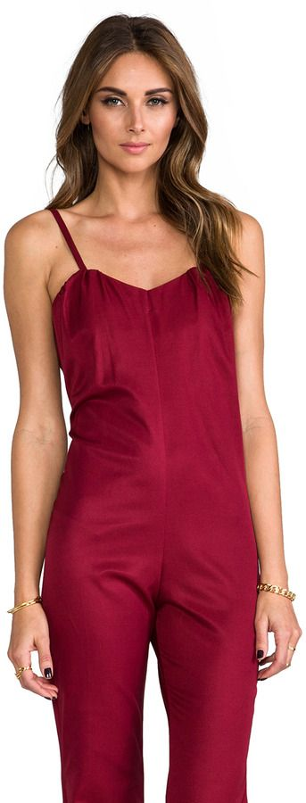 Burgundy Jumpsuit by Stone_Cold_Fox. Buy for $159 from Revolve Clothing
