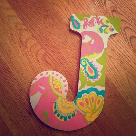 Lilly Pulitzer inspired hand painted letters Hand made wooden letters with Lilly print! Completely customizable tell me the letter you want and which Lilly print and I will make it! These are just samples of my work! Lilly Pulitzer Accessories