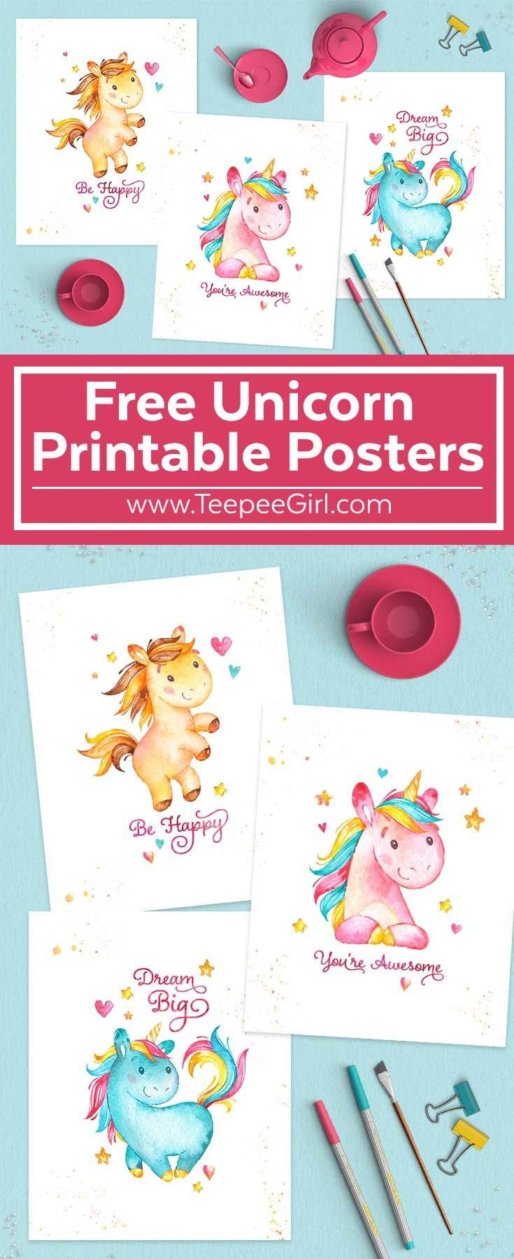 Get These Free 8x10 Unicorn Posters Today At TeepeeGirl
