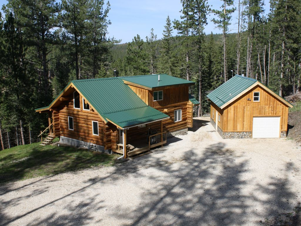 log in homeaway front cabins rental view beautiful vacation blac south dakota handcrafted cabin the