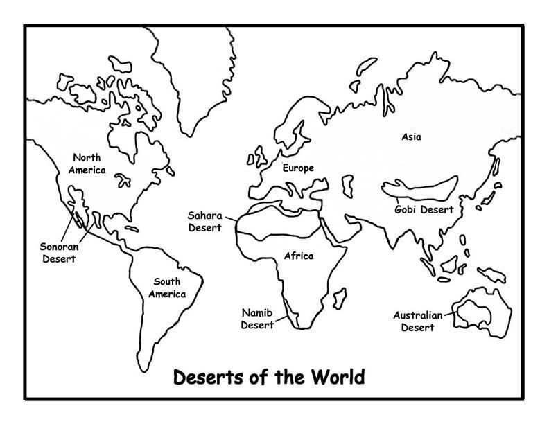 World Map Coloring Page | Classroom | Pinterest