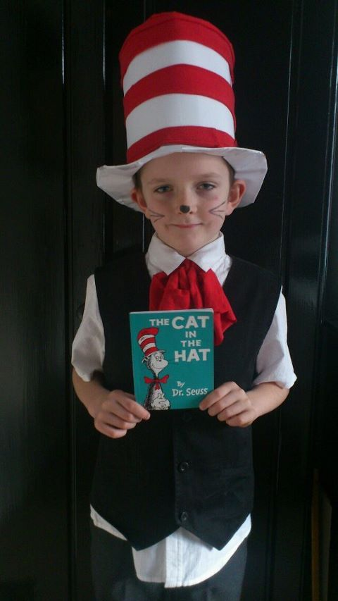 Homemade Cat In The Hat Costume On Top Of Spaghetti Adventures In