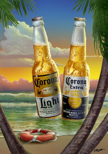 Walt Curlee Artists Gallery All Your Illustration Needs Beer Corona Beer Poster