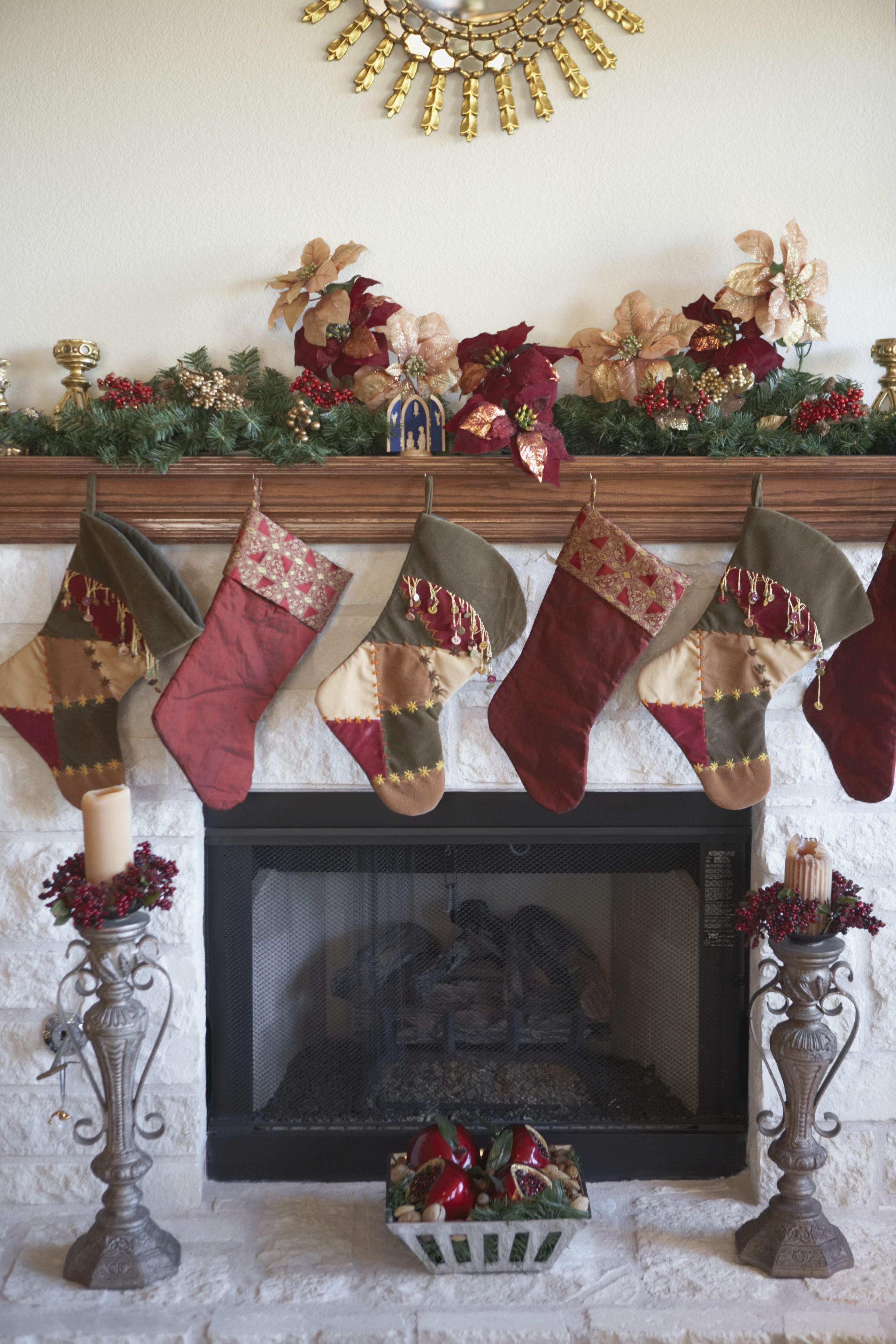Chimenea decorada para navidad | DECORACIÓN NAVIDEÑA | Pinterest ...
