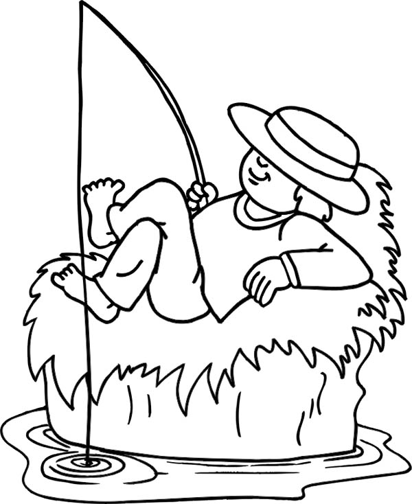 Fisherman While Sleeping Coloring Page Coloring Sky Coloring Pages Coloring Pictures Online Coloring