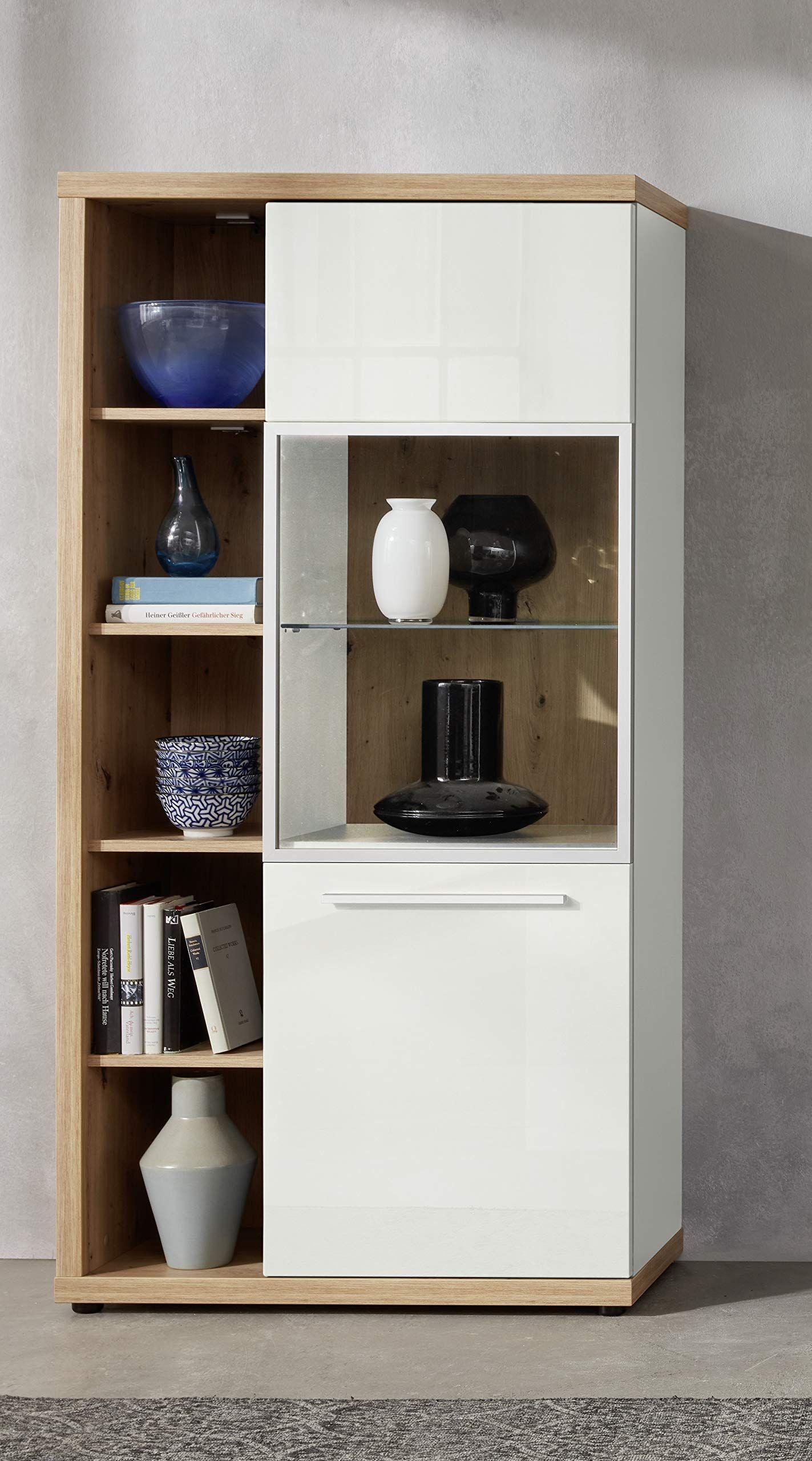 Trendteam Smart Living Wohnzimmer Highboard Schrank Vitrine Odino