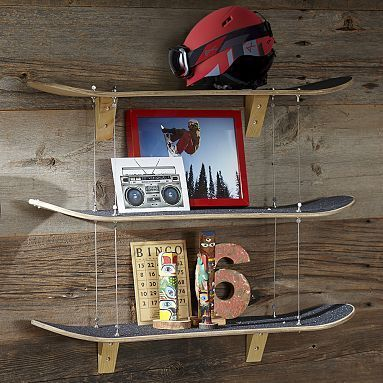 Uberlegen Skateboard Shelf #pbteen Or Could Make A Wakeboard Shelf