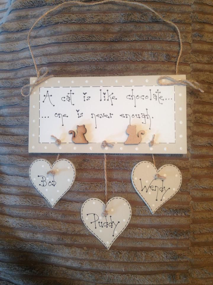shabby chic cats bespoke pet keepsake plaque sign gift Laura Ashley paint   eBay