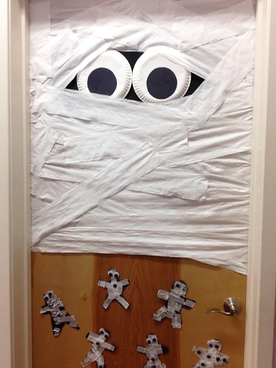 Crafts For Kiddos Halloween Door Decorations Halloween Door Mummy Crafts