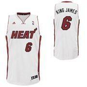 miami heat 6 lebron james king james nickname white swingman nba jerseys wholesale cheap