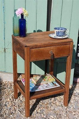 Vintage 1940 S Bedside Cabinet Light Oak Side Table By Cc41