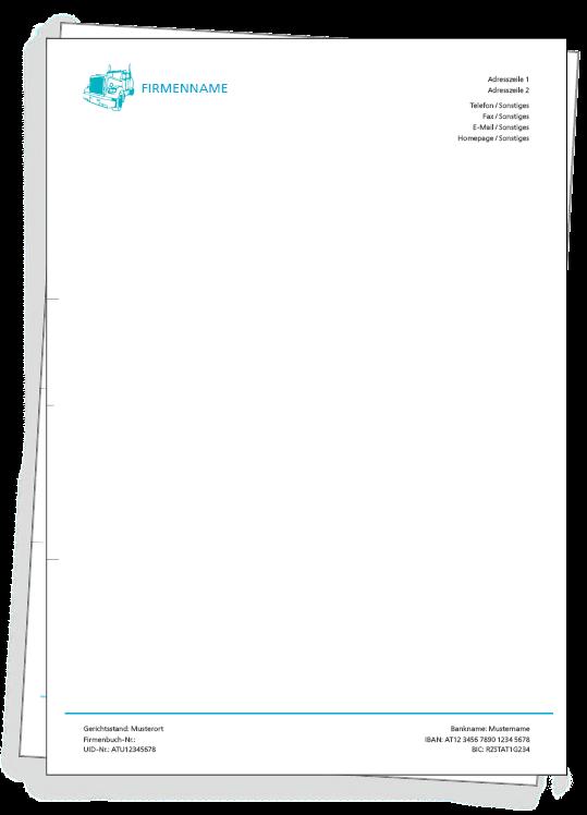 Die Briefpapier Vorlage kostenlos im Webshop personalisieren und ...