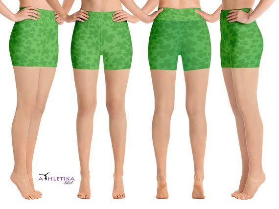 33bd858555d0e St. Patrick's Day Yoga Green Leggings Shorts Capris Lucky | Etsy St.  Patrick's Day Yoga Green Leggings Shorts Capris Lucky Pattern Shamrock Leaves  Print Gym ...
