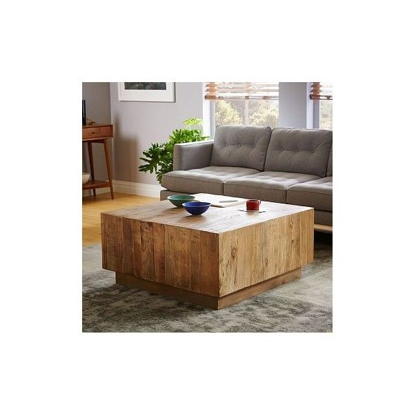 West Elm Plank Coffee Table Featuring Polyvore Home Furniture Tables - West elm plank coffee table