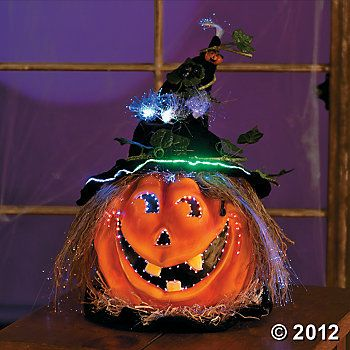 Witchy Fiber Optic Jack O Lantern Halloween Decorations Jack O