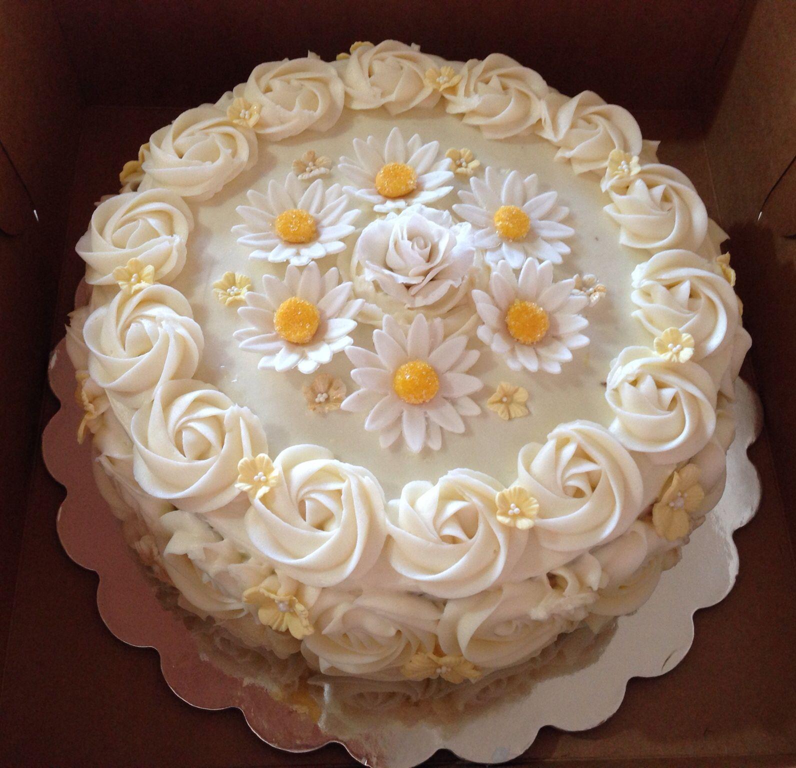 Pretty Flower Cake Flower Cakes Cupcakes Pinterest Cake