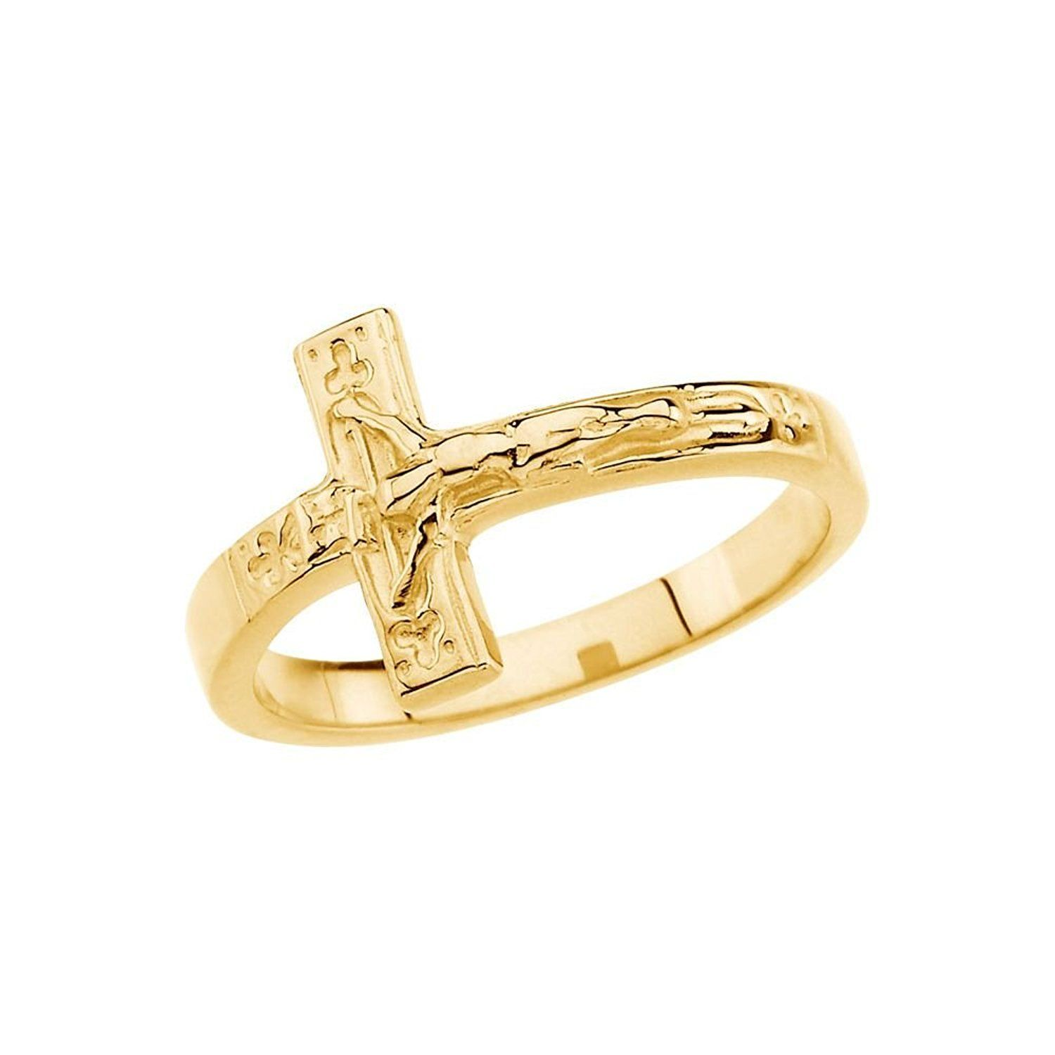 and l a product gold silver rings crucifix copy ring