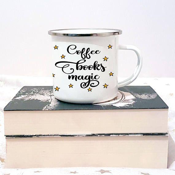Coffee Books Magic Mug. Cool Mugs, Cute Mugs, Travel Mugs, Campfire Mugs