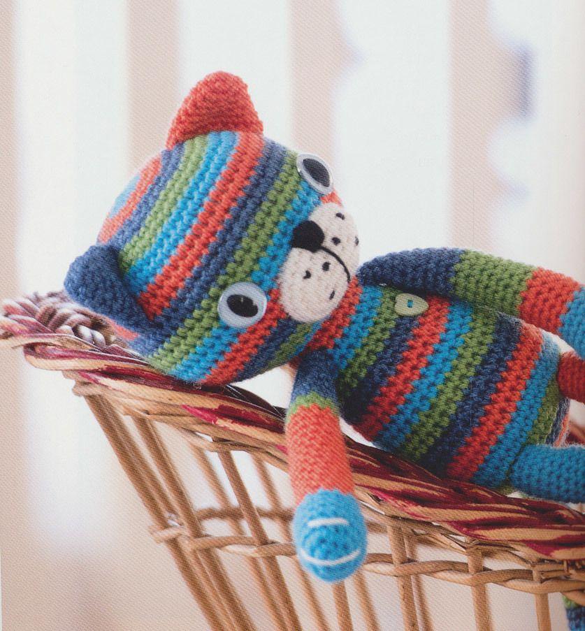 Haakpatroon+Lappenkat | leuke dingentjes | Pinterest
