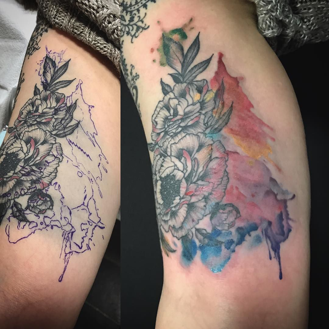Before And After Cover Up Of This Blowout Ink Under The Skin