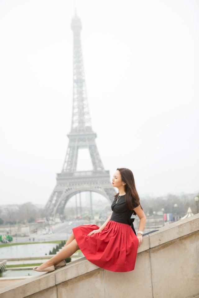 Custom made Black and Red Cotton Dress  | Mrs Pomeranz