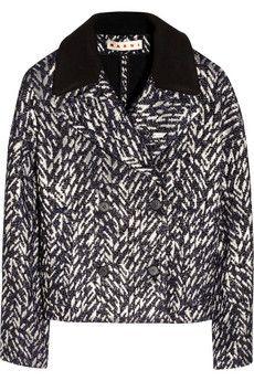 Marni Metallic tweed jacket | THE OUTNET