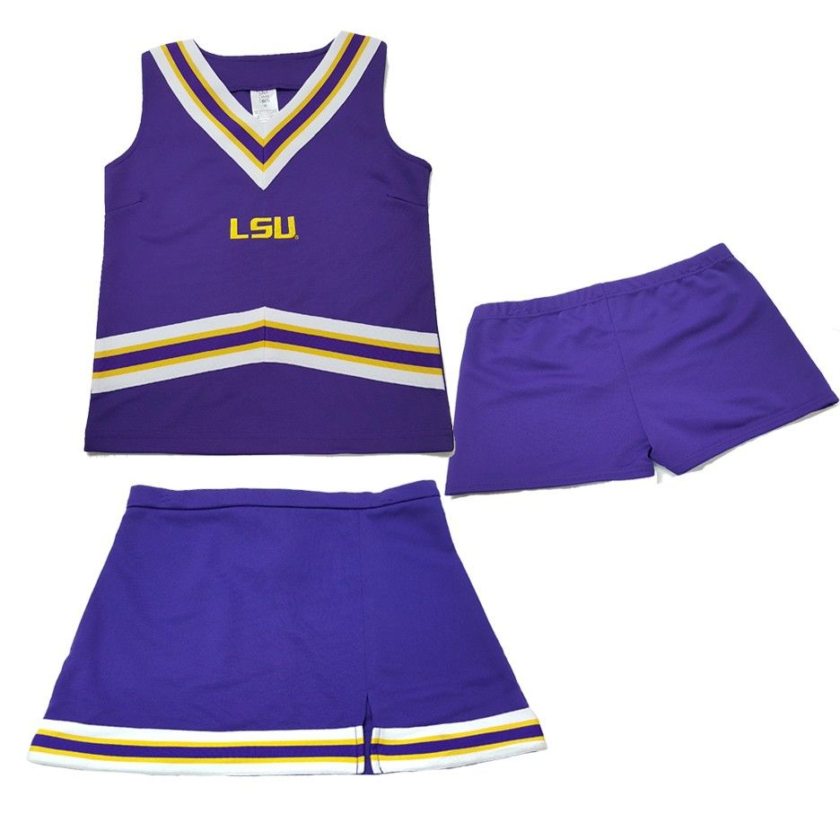 LSU TIGERS 3-PIECE INFANT CHEERLEADER OUTFIT NEW