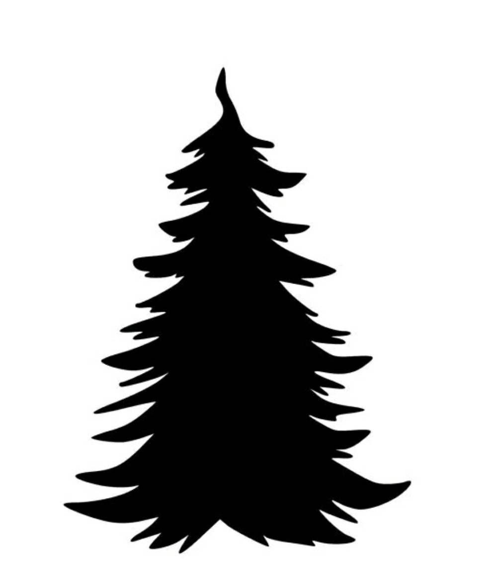 Картинка елка силуэт