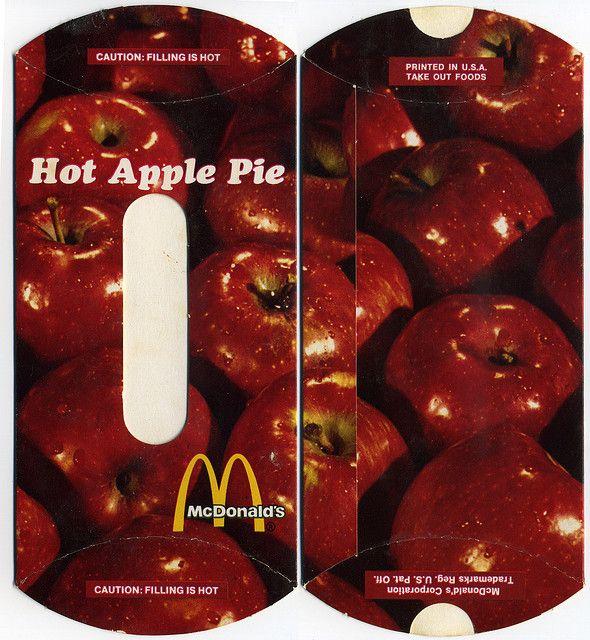 McDonalds Hot Apple Pie vertical pack 1970's Apple