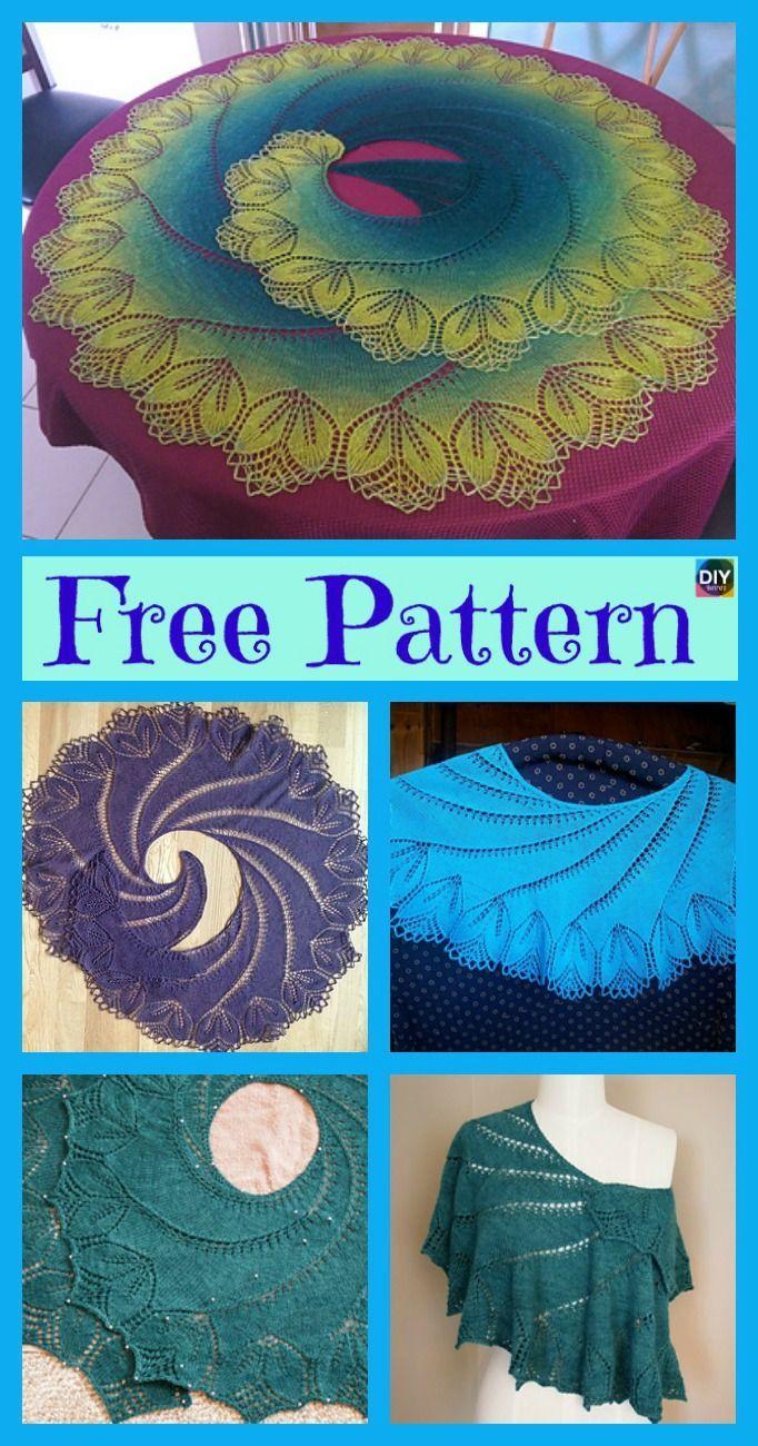 8 Pretty Knitting Lace Shawl Free Patterns #knittingpatterns | Easy ...