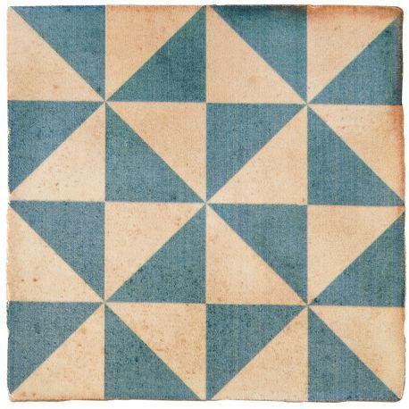 Carrelage imitation carreau ciment sol et mur bleu 15 x 15 cm ...