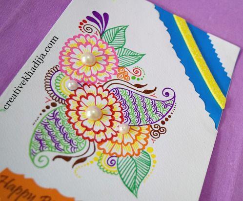 Beautiful handmade eid cards birthday cards for sale ameeras eid how to make beautiful handmade eid cardseative colorful eid cards making ideaslearn handmade cards and crafts for eid dayeid crafts handmade art ideas m4hsunfo