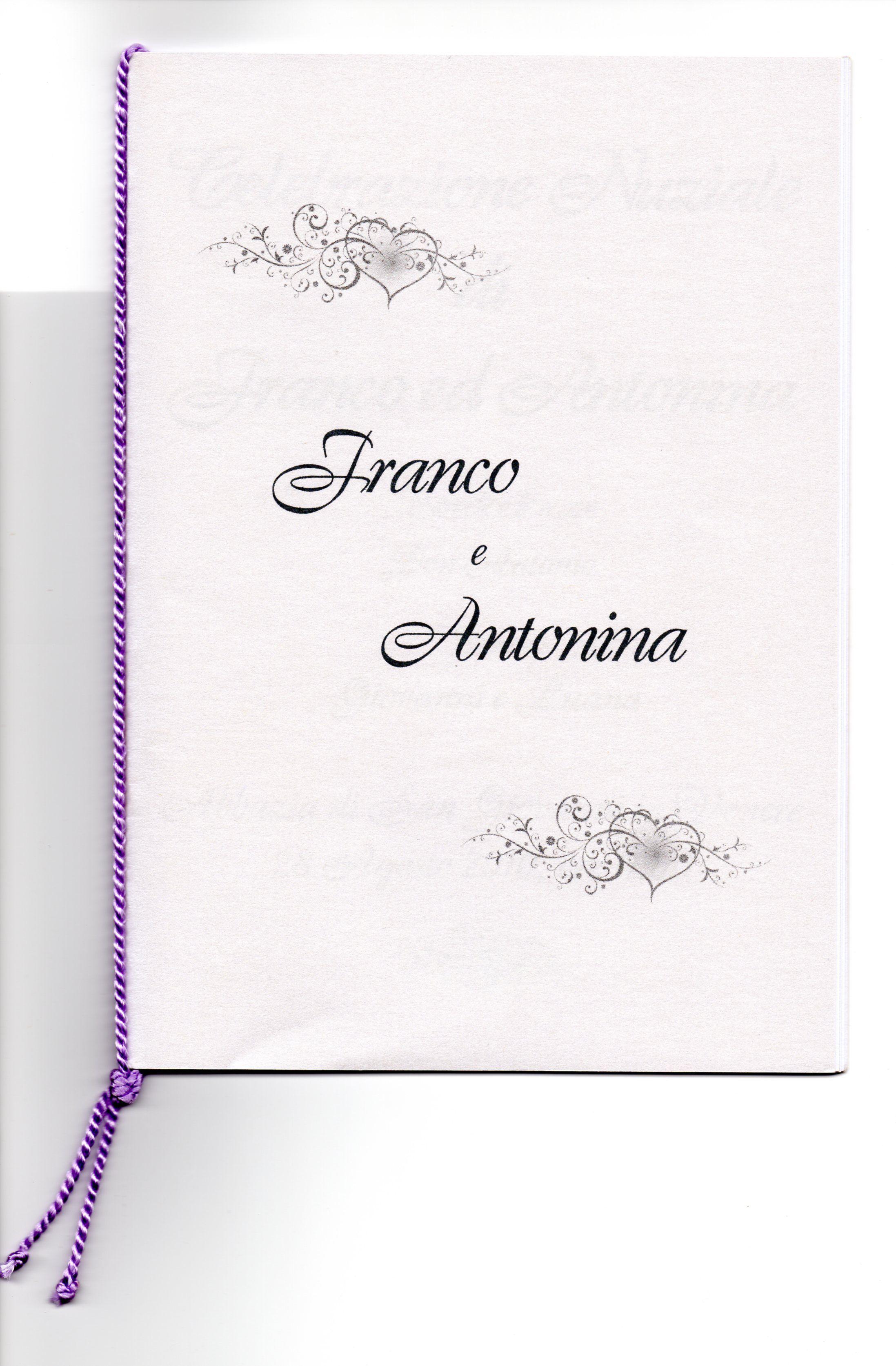 Libretto Messa Matrimonio Matrimonio Idee