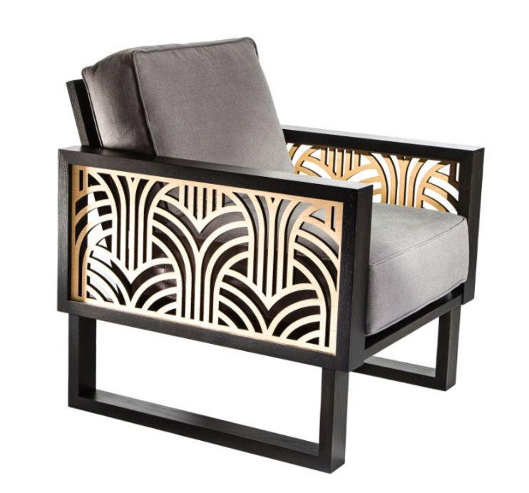 An Art Deco Lounge Chair Gray Twist Modern Art Deco Chair Art Deco Furniture Design Deco Chairs