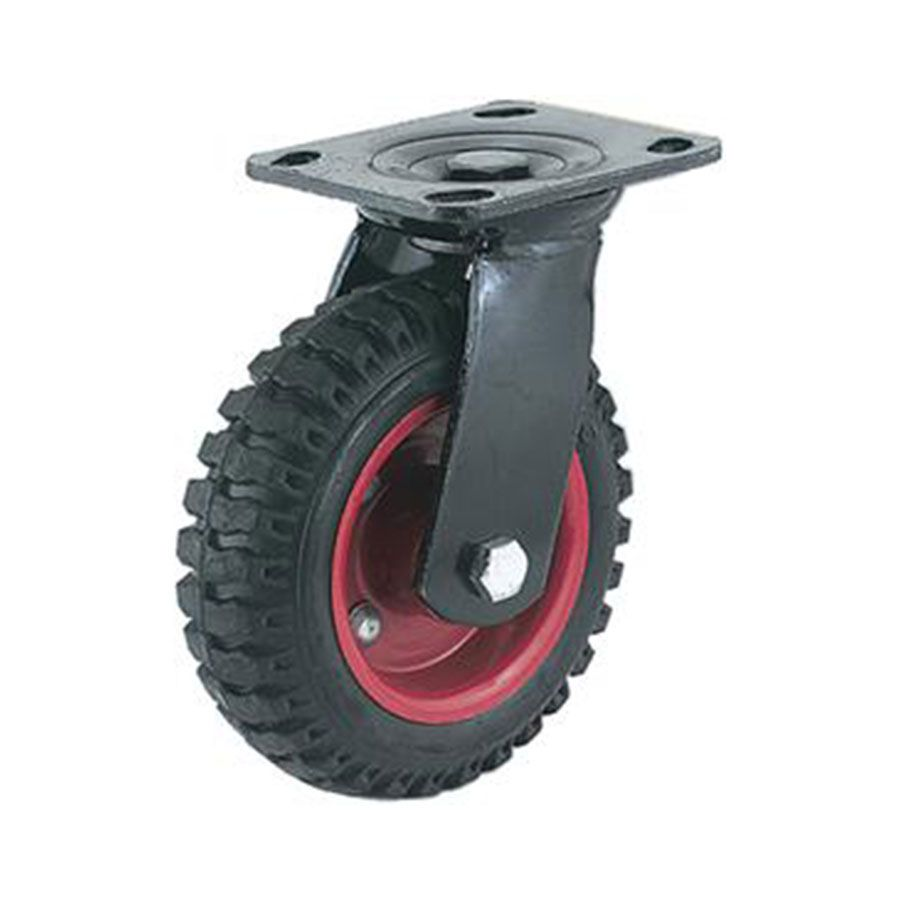 Steelex 6 Inch Caster Black Rubber Knobby Swivel Wheel 330 Lbs D2580 Industrial Wheels Swivel Caster Wheels Swivel Casters