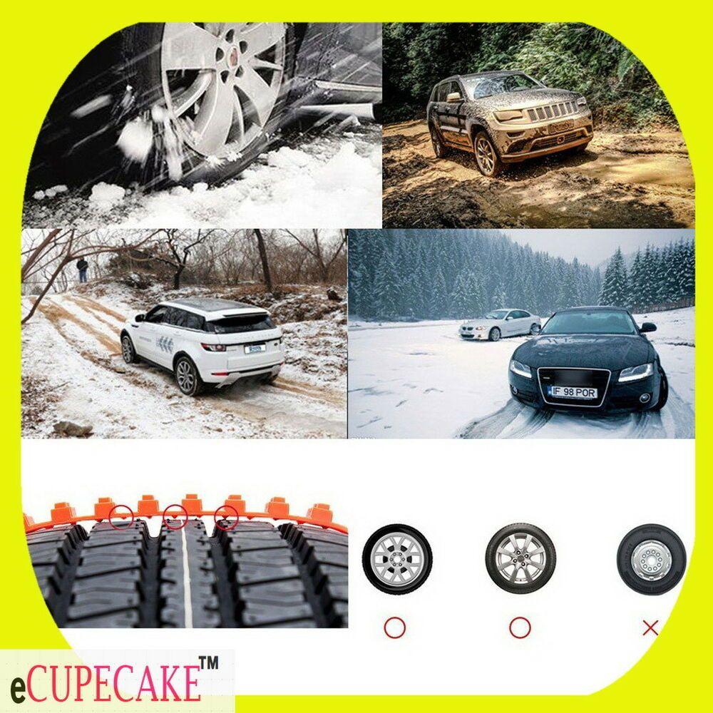 10PCS Canada Snow Tire Chain Pls Truck Cars +AntiSkid