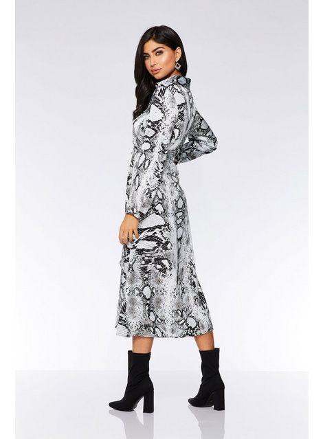 c23e810a24db Womens *Quiz Grey Snake Print Maxi Shirt Dress- Grey in 2019 ...